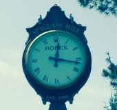 The clock at Spyglass Hill up close and personal