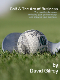 WIP cover for the new book Golf & The Art of Business