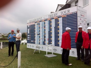 William Hunt Trilby Tour scoreboard at Trevose