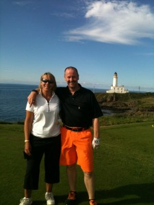 David & MrsG on the 8th tee of The Ailsa Course at Turnberry