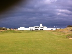 Royal Birkdale club house from the 18th fairway