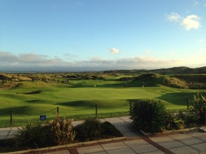 Saunton Golf Club in brilliant October sunshine